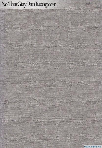 Giấy dán tường dạng gân màu xám, xám tối | Giấy dán tường Lucky 15101