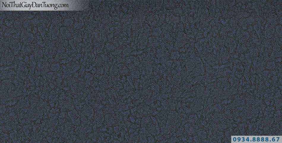 Giấy dán tường hoa văn dạng vỏ cây, màu xanh than, xanh đậm | Giấy dán tường Lucky 13084