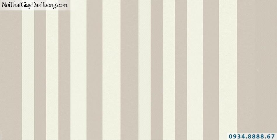 Giấy dán tường kẻ sọc nâu vàng nhạt, giấy dạng sọc thẳng | Giấy dán tường Lucky 15012