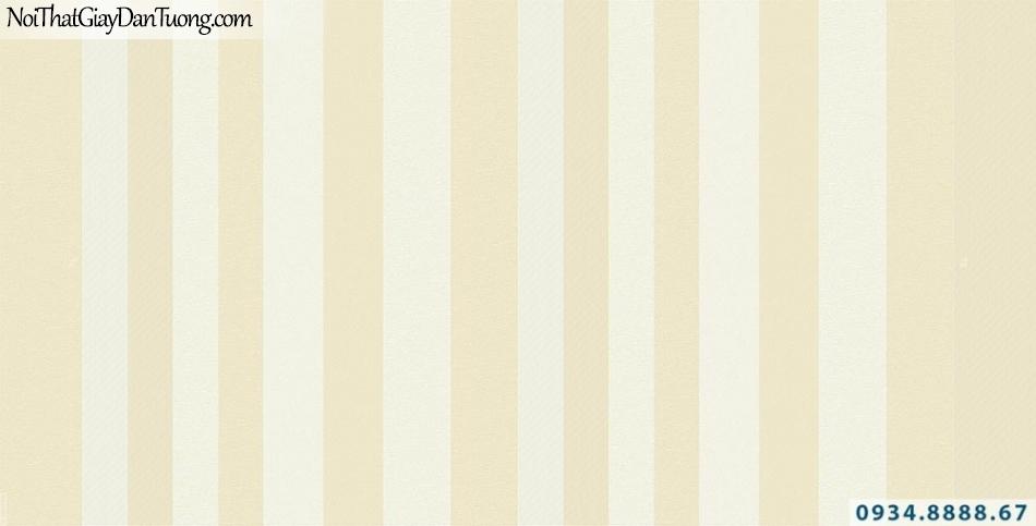 Giấy dán tường kẻ sọc trắng vàng chanh, vàng tươi, dạng sọc thẳng | Giấy dán tường Lucky 15014