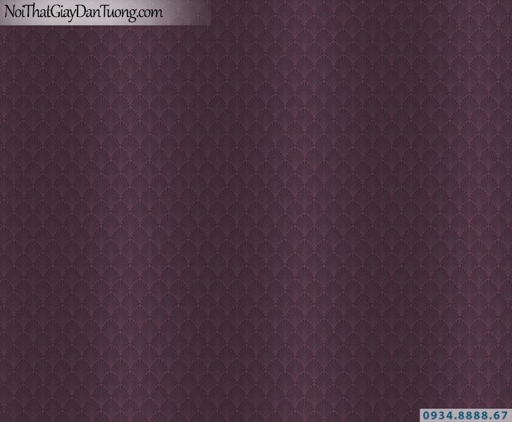 Giấy dán tường màu tím, hoa văn họa tiết dạng cánh quạt nhỏ | Giấy dán tường Lucky 14013