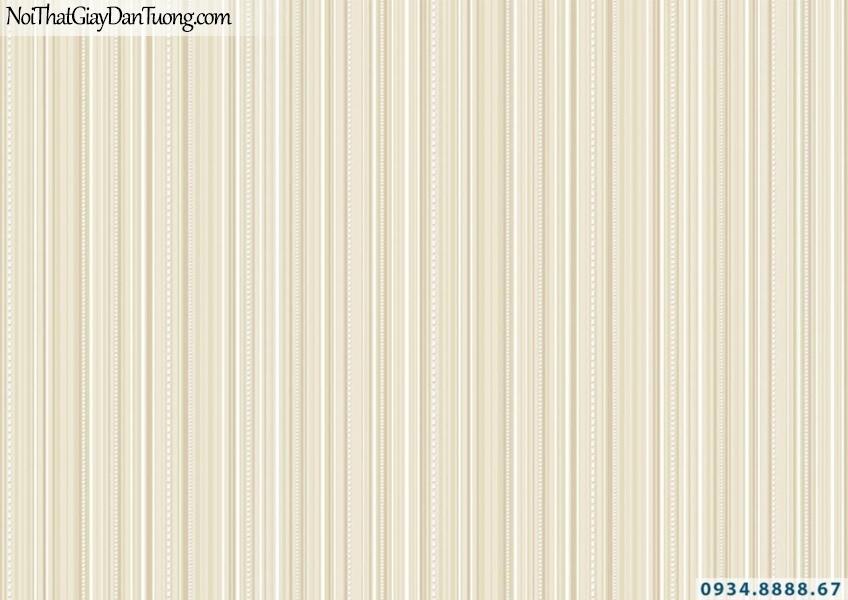 Giấy dán tường sọc nhỏ nhuyễn màu vàng | Giấy dán tường Lucky 15067