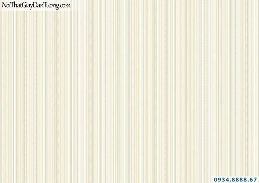 Giấy dán tường sọc nhỏ nhuyễn màu vàng nhạt | Giấy dán tường Lucky 15066