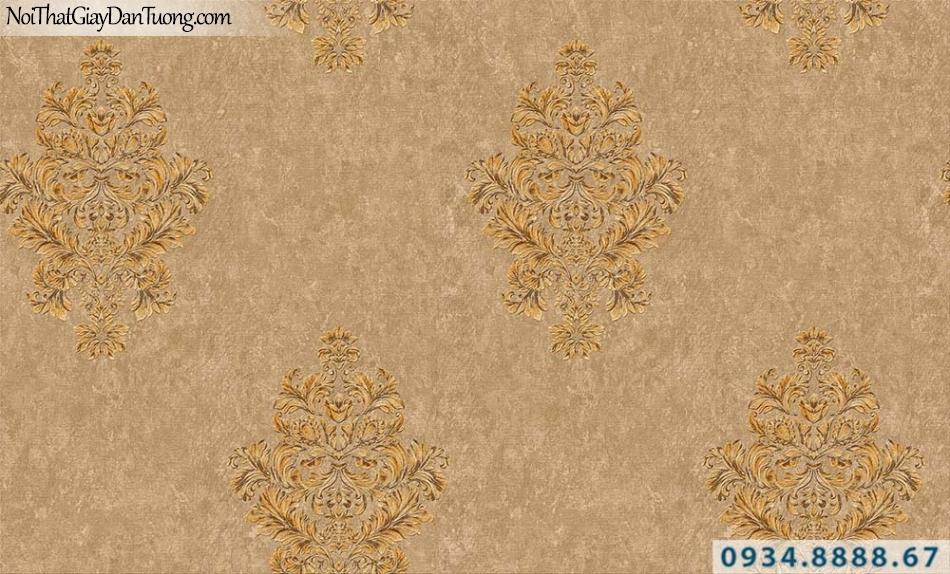Giấy dán tường cổ điển màu vàng, vàng đồng | Giấy dán tường GARDA 31027