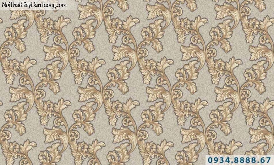 Giấy dán tường GARDA 29034 | giấy dán tường hoa văn cổ điển màu vàng
