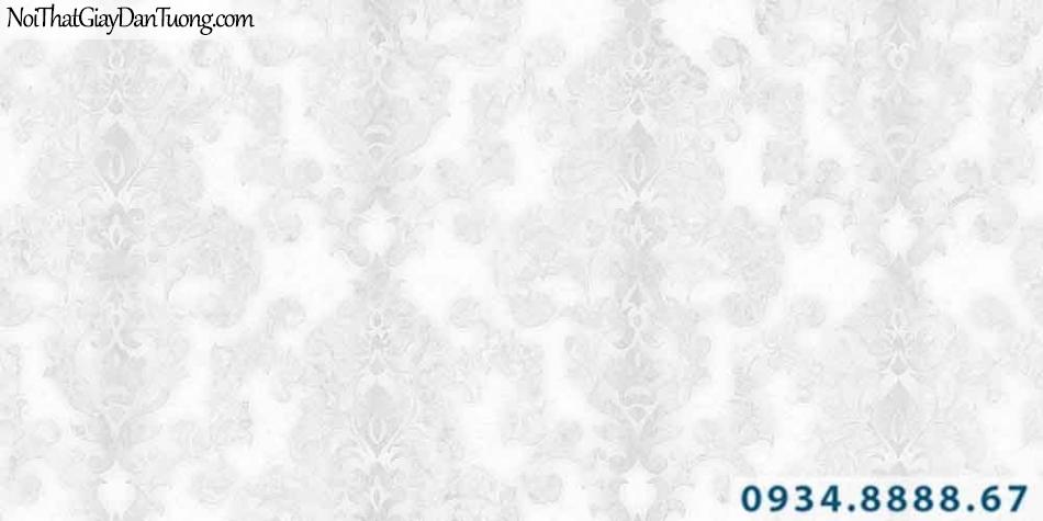 Giấy dán tường GARDA 3005 | Giấy dán tường họa tiết cổ điển màu trắng sáng