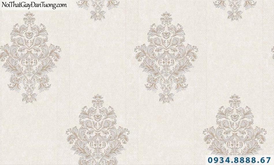 Giấy dán tường hoa văn cổ điển màu xám nhạt | Giấy dán tường GARDA 31023