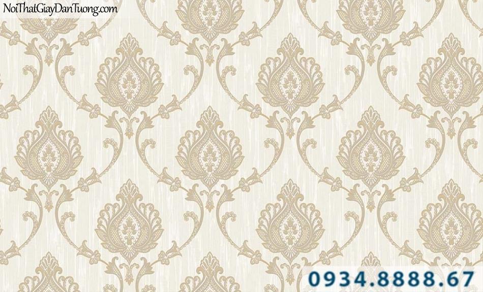 Giấy dán tường phong cách Châu Âu màu xám sáng | Giấy dán tường GARDA 31063