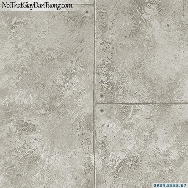 Giấy dán tường giả bê tông màu xám | 3D | Hàn Quốc | Stone & Natural 85091-3