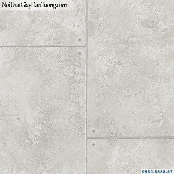 Giấy dán tường giả bê tông, nhiều miếng ghép màu xám trắng | 3D | Hàn Quốc | Stone & Natural 85091-2