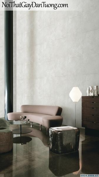 Giấy dán tường giả bê tông, từng tấm bê tông rời màu xám | 3D | Hàn Quốc | Stone & Natural 85091-2