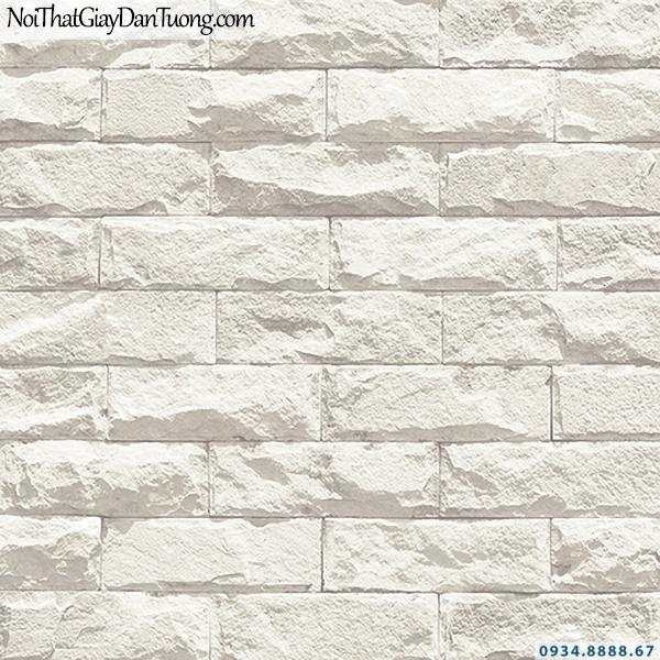 Giấy dán tường giả đá 3D, giả gạch 3D màu trắng | 3D | Hàn Quốc | Stone & Natural 85085-1