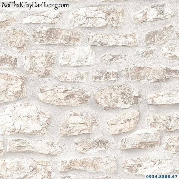 Giấy dán tường giả đá 3D màu trắng, vàng kem | 3D | Hàn Quốc | Stone & Natural 85088-1