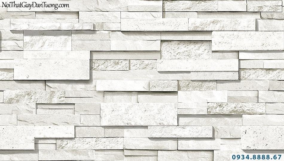 Giấy dán tường giả đá 3D màu xám, màu trắng xám | 3D | Hàn Quốc | Stone & Natural 85050-1