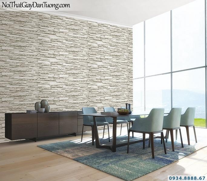Giấy dán tường Giả đá màu trắng | 3D | Hàn Quốc | Stone & Natural 85047-2