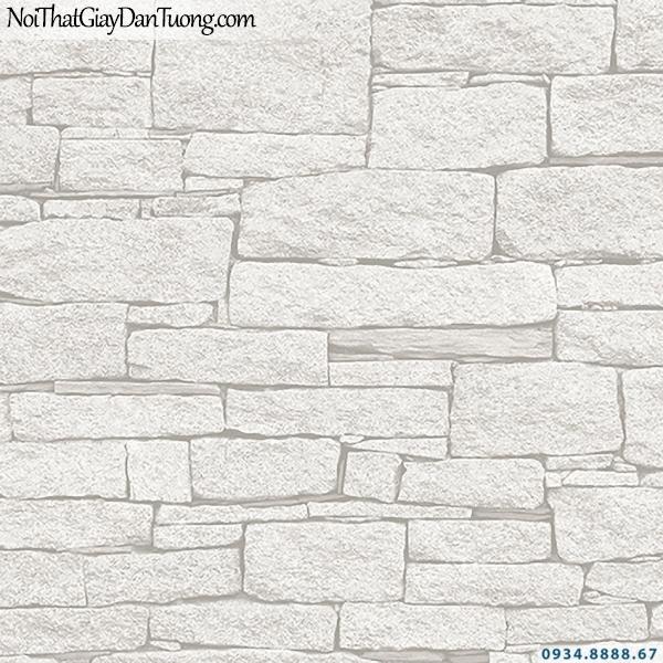 Giấy dán tường giả đá màu trắng | 3D | Hàn Quốc | Stone & Natural 85086-1