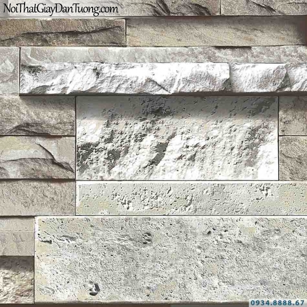 Giấy dán tường giả đá màu xám | 3D | Hàn Quốc | Stone & Natural 85050-3