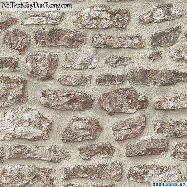 Giấy dán tường giả đá màu xám   3D   Hàn Quốc   Stone & Natural 85088-3