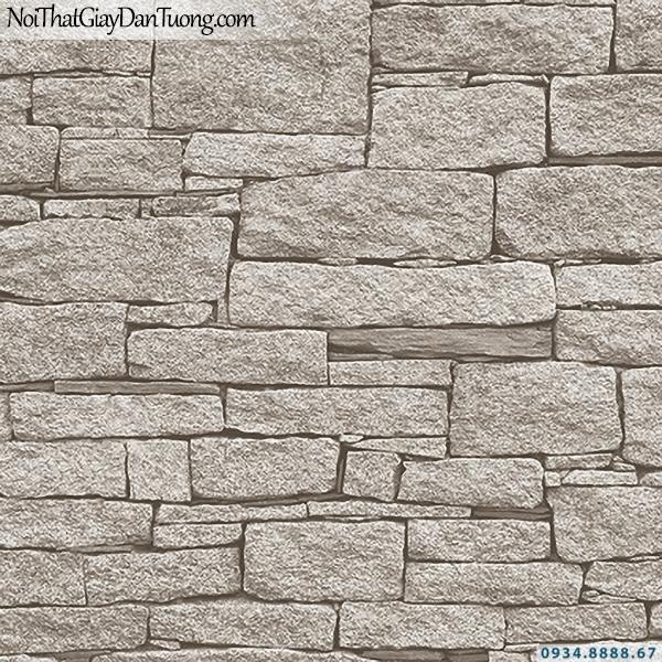 Giấy dán tường giả đá màu xám tro, màu tối | 3D | Hàn Quốc | Stone & Natural 85086-3