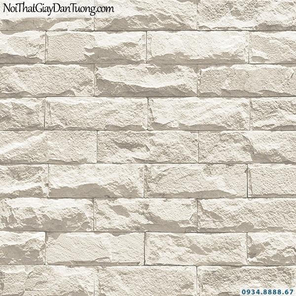 Giấy dán tường giả gạch 3D, giả đá màu vàng kem, vàng nhạt | 3D | Hàn Quốc | Stone & Natural 85085-2