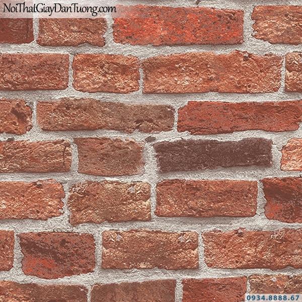 Giấy dán tường giả gạch đỏ, gạch 3D màu đỏ đẹp | 3D | Hàn Quốc | Stone & Natural 85087-3