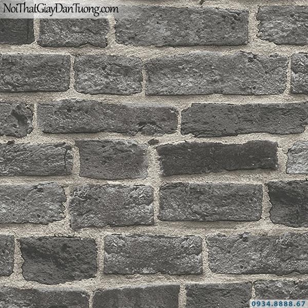 Giấy dán tường giả gạch màu đen | 3D | Hàn Quốc | Stone & Natural 85087-4