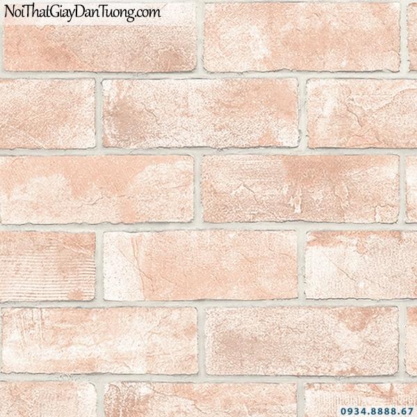 Giấy dán tường giả gạch màu đỏ, màu hồng | 3D | Hàn Quốc | Stone & Natural 85089-3
