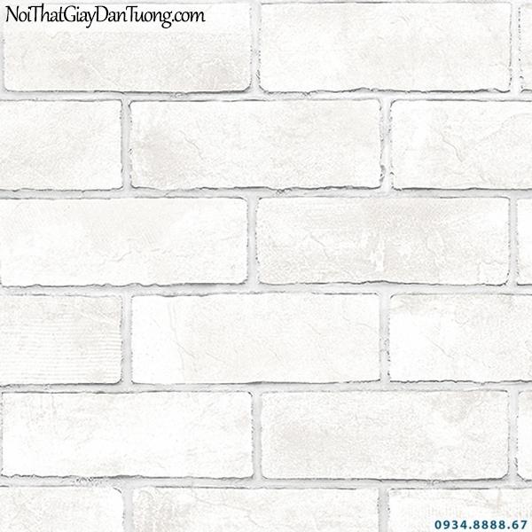 Giấy dán tường giả gạch màu trắng đẹp | 3D | Hàn Quốc | Stone & Natural 85089-1