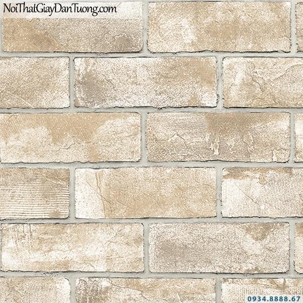 Giấy dán tường giả gạch màu vàng | 3D | Hàn Quốc | Stone & Natural 85089-4