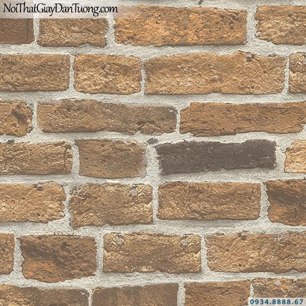 Giấy dán tường giả gạch màu vàng, màu vàng cam | 3D | Hàn Quốc | Stone & Natural 85087-2