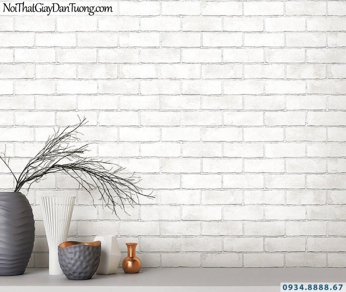 Giấy dán tường giả gạch trắng, gạch màu trắng | 3D | Hàn Quốc | Stone & Natural 85089-1