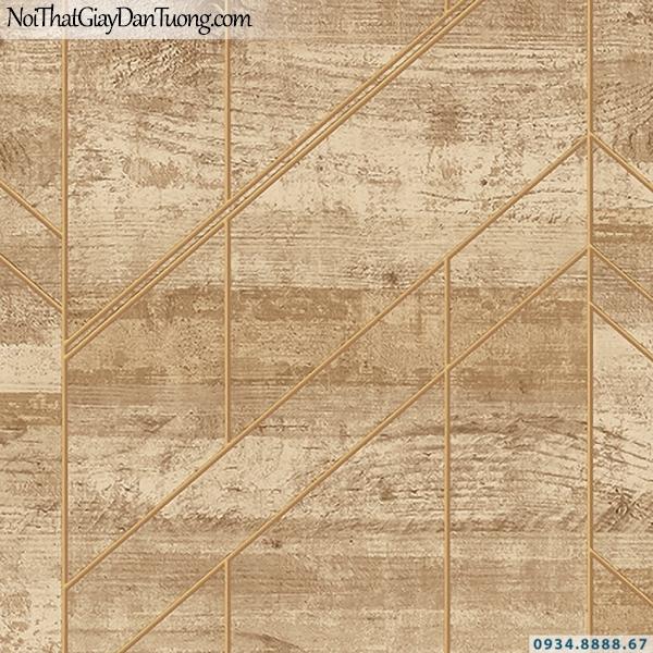 Giấy dán tường giả gỗ màu vàng | 3D | Hàn Quốc | Stone & Natural 85082-2