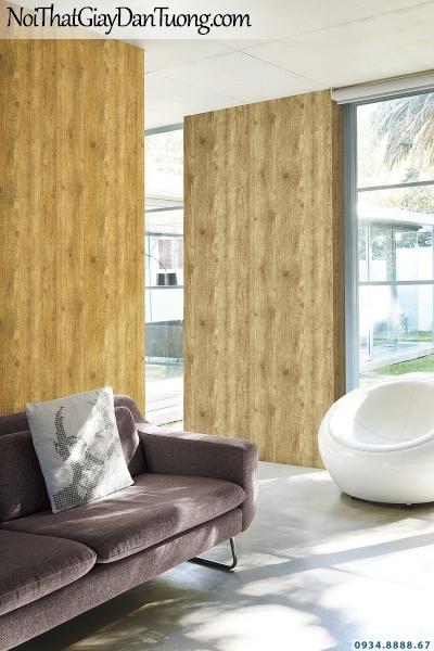 Giấy dán tường giả gỗ màu vàng | 3D | Hàn Quốc | Stone & Natural 85083-2 - 85083-1