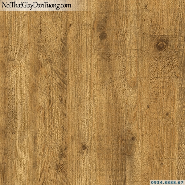 Giấy dán tường giả gỗ màu vàng đồng, vàng cam | 3D | Hàn Quốc | Stone & Natural 85083-2