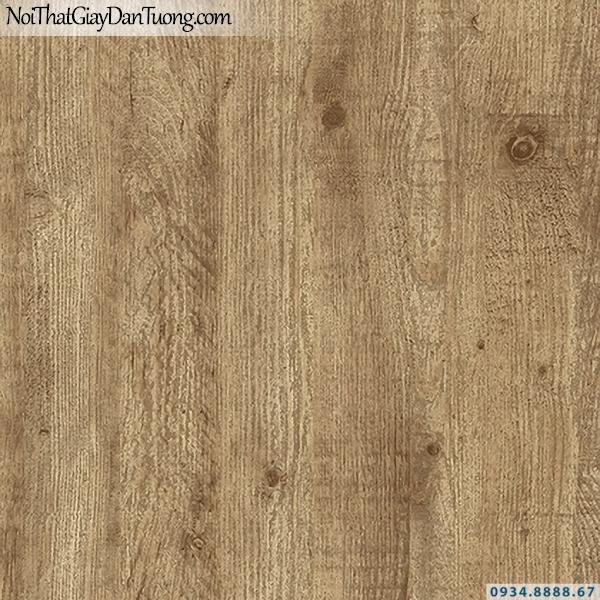 Giấy dán tường giả gỗ màu vàng nhạt | 3D | Hàn Quốc | Stone & Natural 85083-1