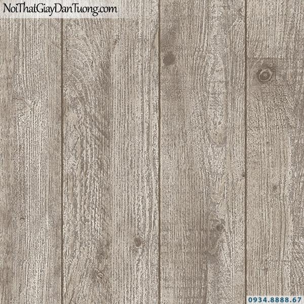 Giấy dán tường giả gỗ màu xám, từng thanh gỗ ghép | 3D | Hàn Quốc | Stone & Natural 85084-2