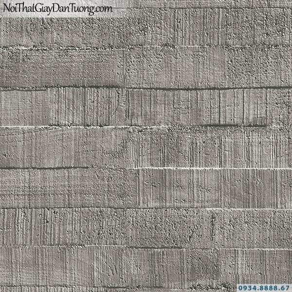 Giấy dán tường giả màu bê tông đẹp, màu xám đậm | 3D | Hàn Quốc | Stone & Natural 85092-3