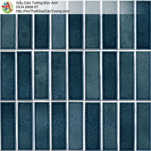 the ACE, Walltex WT 1810-5 | Giấy dán tường giả gạch 3D màu xanh