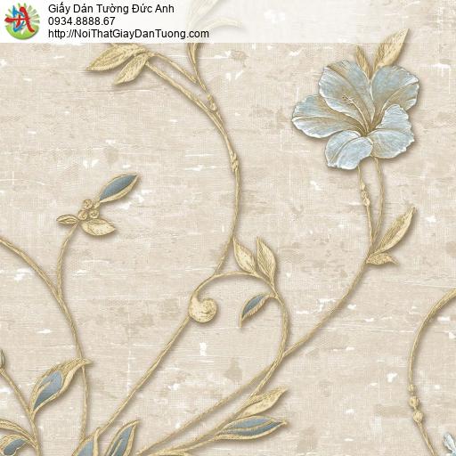 Giấy dán tường Florence 82042-3 | Giấy dán tường hoa lá màu nâu nhạt