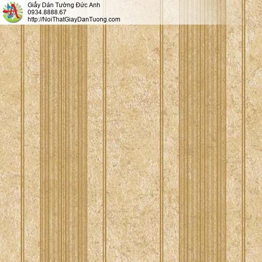 Giấy dán tường Florence 82045-3 | Giấy dán tường kẻ sọc màu vàng