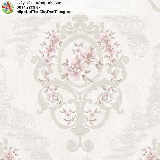 Giấy dán tường Florence 82047-2 | Giấy dán tường hoa văn màu tím nhạt