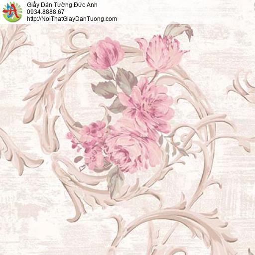 Giấy dán tường Florence 82050-1 | Giấy dán tường bông hoa lớn màu hồng