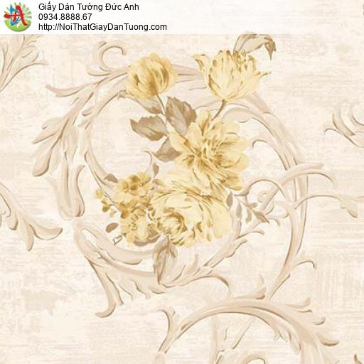 Giấy dán tường Florence 82050-3 | Giấy dán tường bông hoa lớn màu vàng