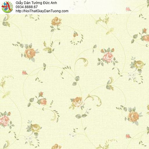 Florence 82052-1 | Giấy dán tường hoa lá màu vàng chanh, nõn chuối