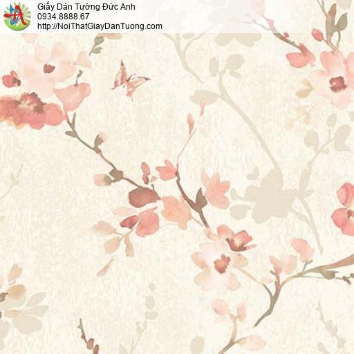 Florence 82053-1 | Giấy dán tường hoa lá màu hồng nhạt, dạng dây leo