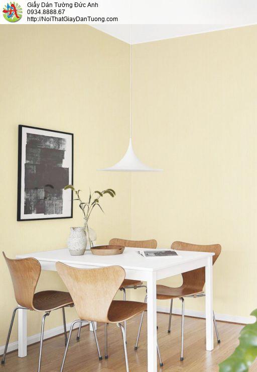 Giấy dán tường màu vàng nhạt, giấy gân màu vàng kem   SKETCH 15076-8