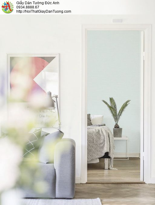 Giấy dán tường màu xanh ngọc, xanh lục bảo mới 2020 | SKETCH 15077-6