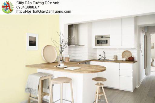 Giấy dán tường trơn màu vàng nhạt, giấy gân hiện đại | SKETCH 15077-7