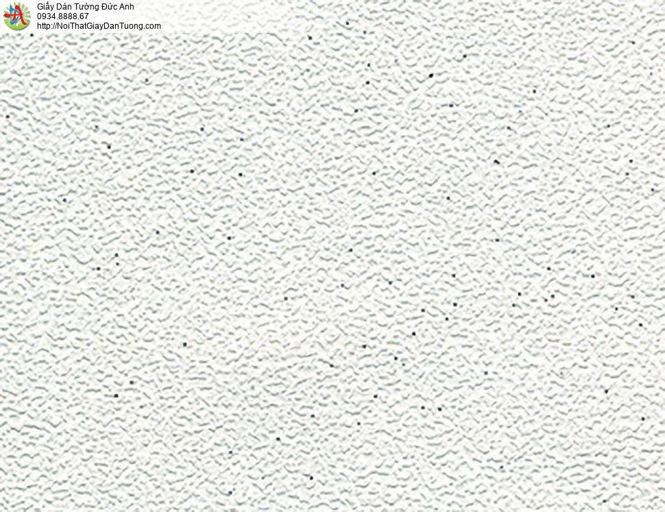 Giấy dán tường gân màu trắng, giấy trắng trơn, giấy gân, Lohas 54013-1