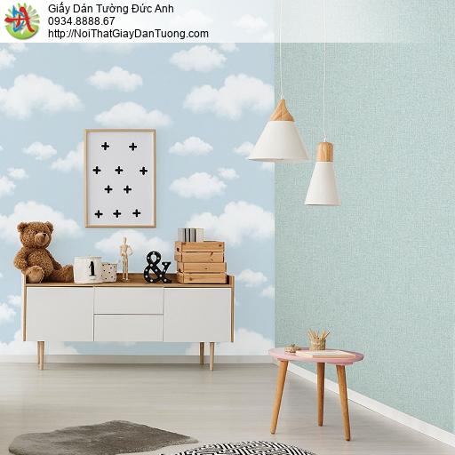 87411-1 vs 87416-3 Giấy dán tường hình mây bầu trời màu xanh, Lohas